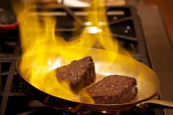 carne flambada