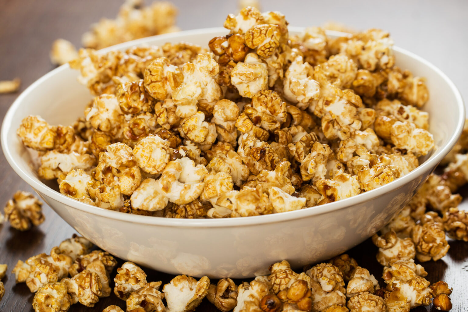 Cinema. Delicious popcorn on the table