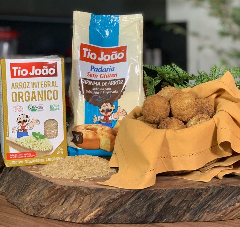 Bolinho de arroz com abóbora e carne seca