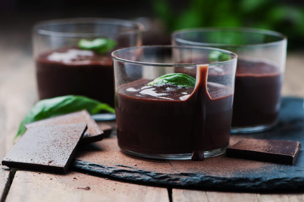 Mouse de Chocolate com Café