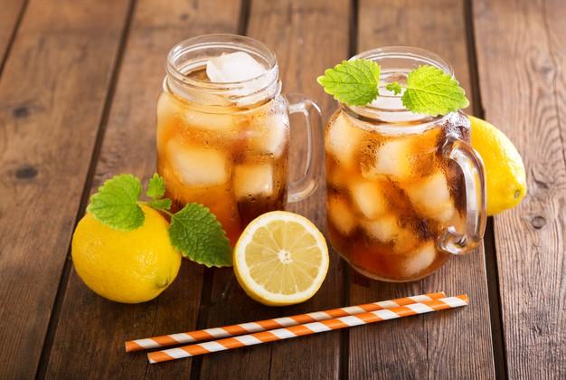 Chá Matte Gelado com Limão