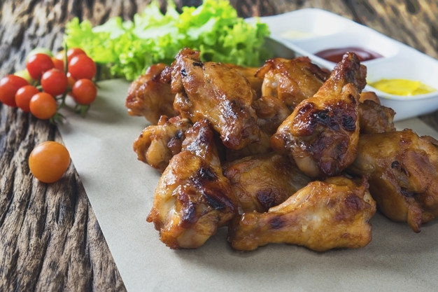 coxinha de frango na grelha