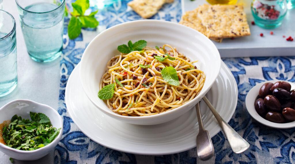 Espaguete Picante com Ervas
